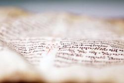 მე-12 საუკუნის ოთხთავს იუსტიციის სამინისტროს ეროვნულ არქივში რესტავრაცია უტარდება
