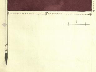 """საქართველოს რესპუბლიკის დროშის ესკიზი. <br> ავტორები: იაკობ ნიკოლაძე, იოსებ შარლემანი. <br> 1918 წელი. <br>  კანონი დროშის შესახებ მიიღეს 1918 წლის 10 სექტემბერს. """"დროშა შეადგენს: თეთრი ბუნი თავსი ბირთვითა და შუბის წვერით, ალამი წითელი (შვინდის ელფერითა) შავი და თეთრი ზოლები შეადგენს ალამის ვანის ნახევარს და სიგრძის ორ მეხუთედს"""". <br> ამონარიდი კანონიდან საქართველოს რესპუბლიკის დროშის შესახებ. <br> 1918 წლის 10 სექტემბერი. <br>  Sketch of the flag of the Republic of Georgia. <br> Authors: Iakob Nikoladze, Josif Charlemagne. <br> 1918.<br> The law about the flag was accepted on 10 September 1918. <br> """"The components of the flag: white flagstaff with sphere and the tip of spear, red, black and white stripes on the half of the flag and two fifths of the length."""" <br> Extract from the law about the flag of the Georgian Republic. <br> 10 September 1918."""