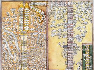 ვახუშტის ატლასი <br> გენეალოგია ადამიდან ღვთისმშობელ მარიამამდე <br> Atlas of Vakhushti <br> Genealogy from Adam to Virgin