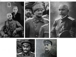 საქართველოს დემოკრატიული რესპუბლიკის შეიარაღებული ძალების მთავარსარდლები და გენერალური შტაბის უფროსები, მთავარსარდლები: 1.გიორგი კვინიტაძე (1918, 1920-1921); 2.ალექსანდრე გედევანიშვილი (1918-1919) 3.ილია ოდიშელიძე (1920-1921). გენერალური შტაბის უფროსები: 1.ალექსანდრე ანდრონიკაშვილი (1918-1919); 2.ალექსანდრე ზაქარიაძე (1919-1921) <br>  Commander-in-chief of the armed forces of the Democratic Republic of Georgia and chiefs of the headquarters: Commander-in-Chiefs: 1.Giorgi Kvinitadze (1918, 1920-1921); 2.Aleksandre Gedevanishvili (1918-1919); 3.Ilia Odishelidze (1920-1921).   Chiefs of headquarters: 1.Alexandre Andronikashvili (1918-1919); 2.Aleksandre Zakariadze (1919-1921).