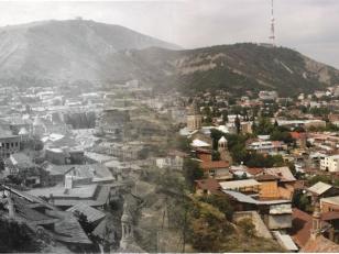 Old and Modern Tbilisi. Mtatsminda.