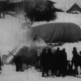 One of the first flights of Vladimer Garakanidze by air balloon. 1927.