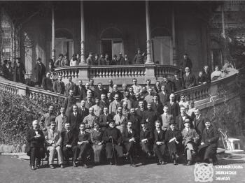 საქართველოს რესპუბლიკის მთავრობის მინისტრთა კაბინეტი 1918-1921 წლებში.<br> The cabinet of ministers of the government of the Georgian Republic in 1918-1921.