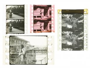 """ფილმ """"ქრისტინეს"""" ფირის ფრაგმენტები. <br> პირველი ქართული მხატვრული ფილმი. <br> გადაიღეს 1916-1918 წლებში ეგნატე ნინოშვილის თხზულების მიხედვით.<br> სცენარის ავტორი და დამდგმელი რეჟისორი: ალექსანდრე წუწუნავა დამდგმელი ოპერატორები: ალექსანდრე შუგერმანი, ალექსანდრე დიღმელოვი. ქრისტინეს როლში: ანტონინა აბელიშვილი.<br> Film fragment of the movie """"Kristine"""". <br> The first Georgian feature film. <br> The film was shot based on the novel by Egnate Ninoshvili. <br> Screenwriter and production director: Alexandre Tsutsunava. <br> Production cameramen: Alexander Schugerman, Alexander Dighmelov. In the role of Kristine: Antonina Abelishvili."""