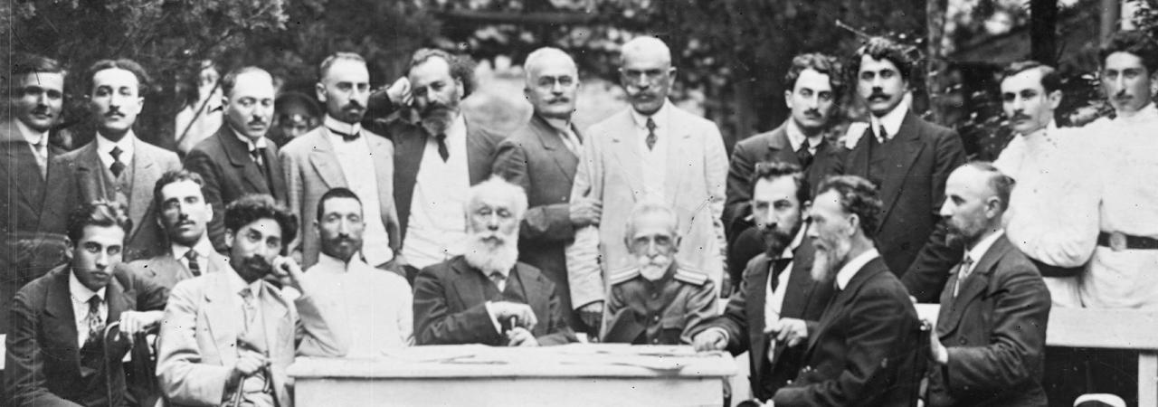 ლიტერატურული საღამოს მონაწილეები, ქუთაისი, 1914 წლის 7 ივნისი