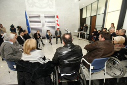 The Minister of Justice met Disabled Employees