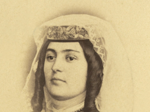 მელანია ნიკოლოზის ასული ფალავანდიშვილი. თბილისი, 1870 წ. <br> Melania Phalavandishvili. Tbilisi, 1870.