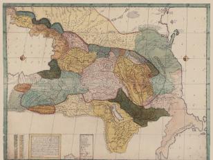 Map of Georgia or Iveria 1745, Moscow. Author: Vakhushti Batonishvili (Bagrationi)