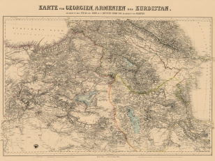 Map of Georgia, Armenia and Kurdistan 1854. Author: Carl Ritter; editor: Heinrich Kiepert