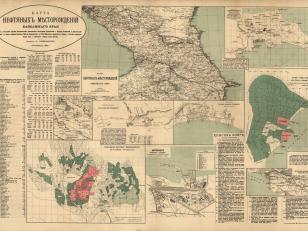 Map of Caucasus Oil Layer 1900, St. Petersburg. Author: Stephan Gulishambarov