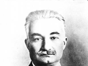 ივანე ჯავახიშვილის პორტრეტი. თბილისი,  1926  წ.