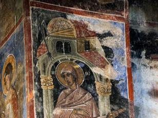 გრემი, ყოვლადწმიდა ღვთისმშობლის ფრესკა<br>Gremi, the fresco of the Holy Virgin