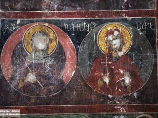 გრემი, წმიდა დედების - ევპრაქსიასა და სოფიას ფრესკა<br>Gremi, the fresco of saint mothers - Eupraxia and Sophia