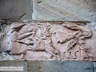 სამსონისა და ლომის ჭიდილი და წინასწარმეტყველი ამბაკუმი, დასავლეთი ფასადი<br>Fight of Samson and the lion and the prophet Ambakur, west facade