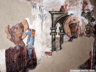 სამხილებელი წყლით გამოცდა, სამხრეთ აფსიდი, XI საუკუნე<br>Trial with disclosure water. South apse, 11th century