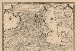 სულხან-საბაზე დაყრდნობით გილიომ დელილის შედგენილი რუკა - კვირის დოკუმენტი