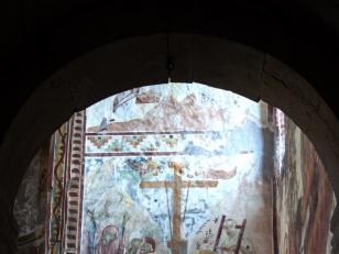 დატირება, ღვთისმშობლის ტაძრის ჩრდილო-აღმოსავლეთ კედელი, XVII საუკუნე<br>The Dormination. the north wall of the Church of Assumption. 17th century