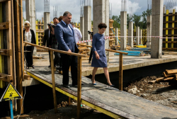 The Minister of Justice visited the Construction of the Central Archive in Kutaisi