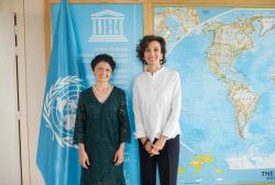 """თეა წულუკიანი """"UNESCO""""-ს გენერალურ დირექტორ ოდრე აზულეს შეხვდა"""