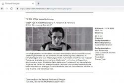 საარქივო ფილმები გერმანული კინოს მუზეუმის ქართული კინოს რეტროსპექტივაზე