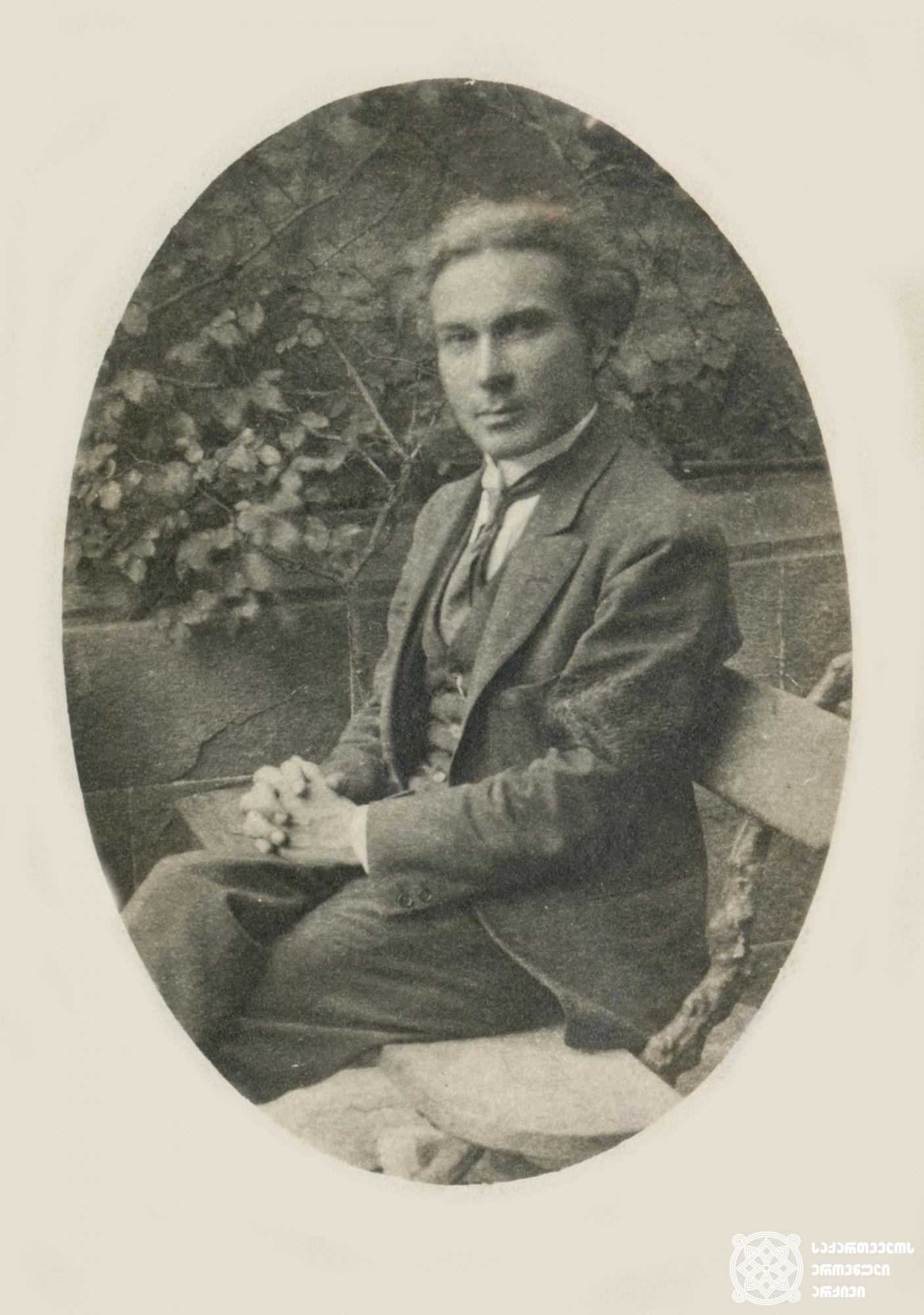 იოსებ გობეჩია - ამიერკავკასიის სეიმის წევრი სოციალ-რევოლუციონერთა პარტიიდან. <br> Ioseb Gobechia, member of the Transcaucasian Sejm from the Social-Revolutionary Party