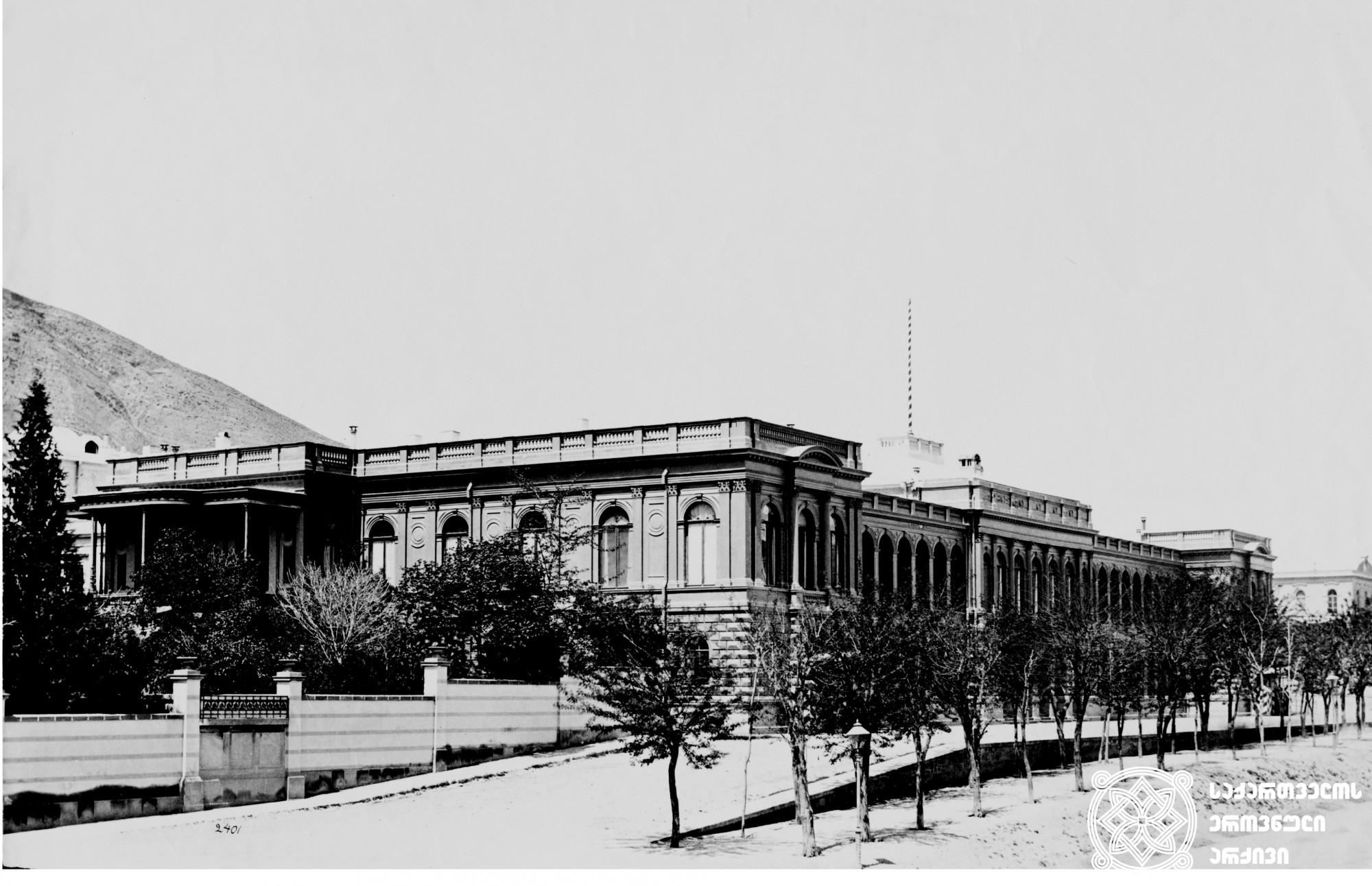 ამიერკავკასიის სეიმისა და მთავრობის სასახლე (ყოფილი რუსეთის მეფისნაცვლის სასახლე) <>br Transcaucasian Sejm and Government Palace (Former Palace of Russian Vicegerent)