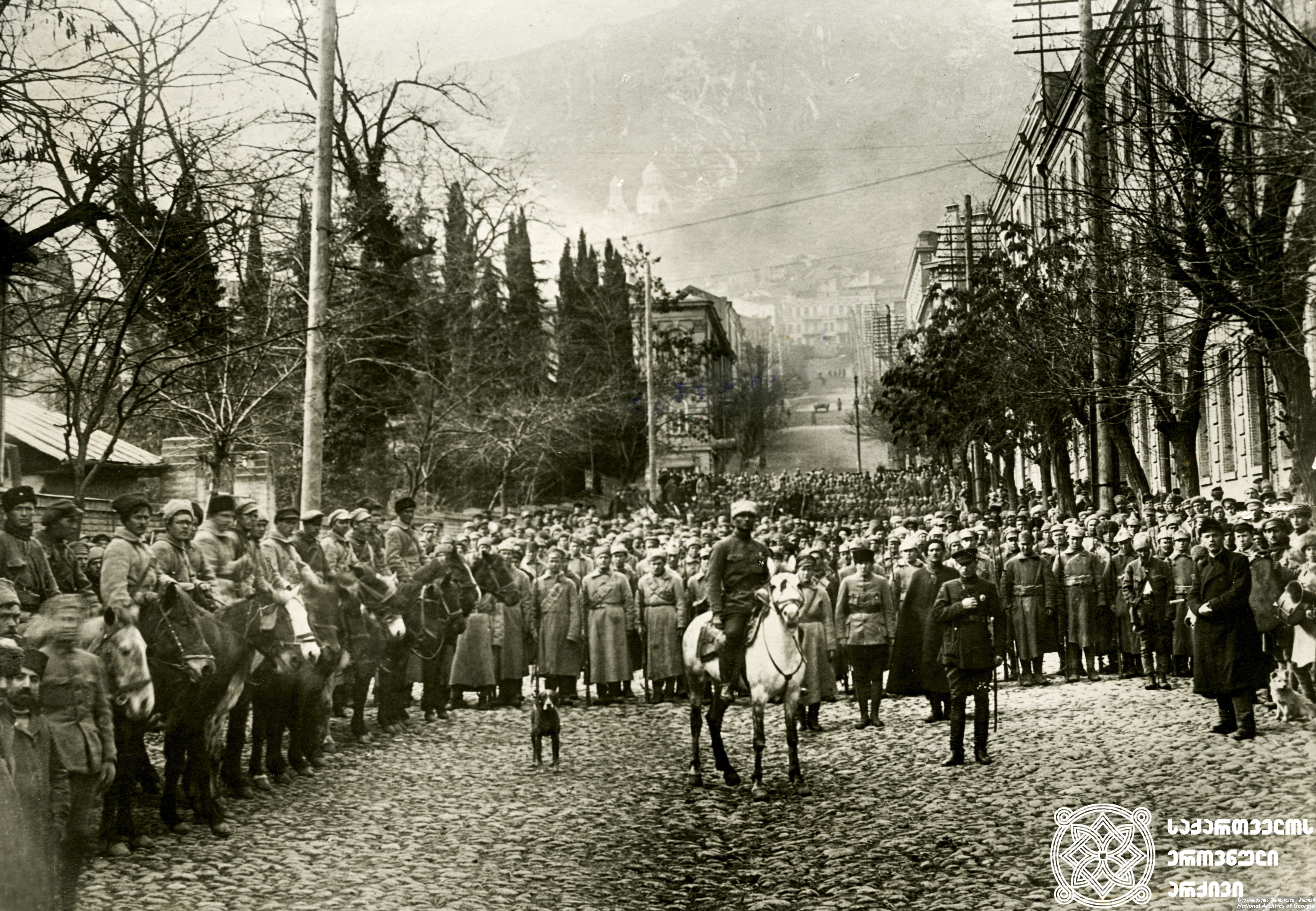 საბჭოთა რუსეთის მე-11 წითელი არმიის შემოსვლა თბილისში. <br> 1921 წლის 25 თებერვალი. <br>  Invasion of the 11th Red Army of the Soviet Russia in Tbilisi. <br> February 25, 1921.
