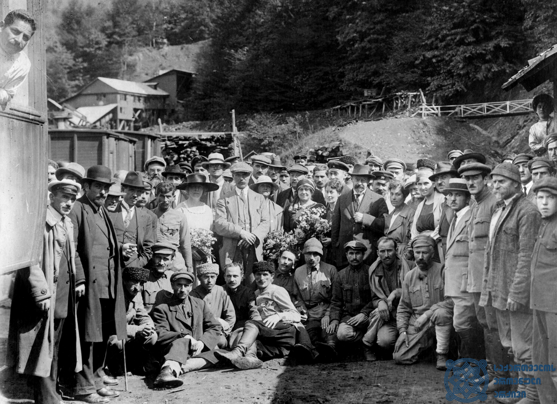 მეორე სოციალისტური ინტერნაციონალის წევრების ვიზიტი საქართველოს რეგიონებში. 1920 წლის სექტემბერი. <br> Visit of the members of the Second Socialist International to the regions of Georgia. September 1920.