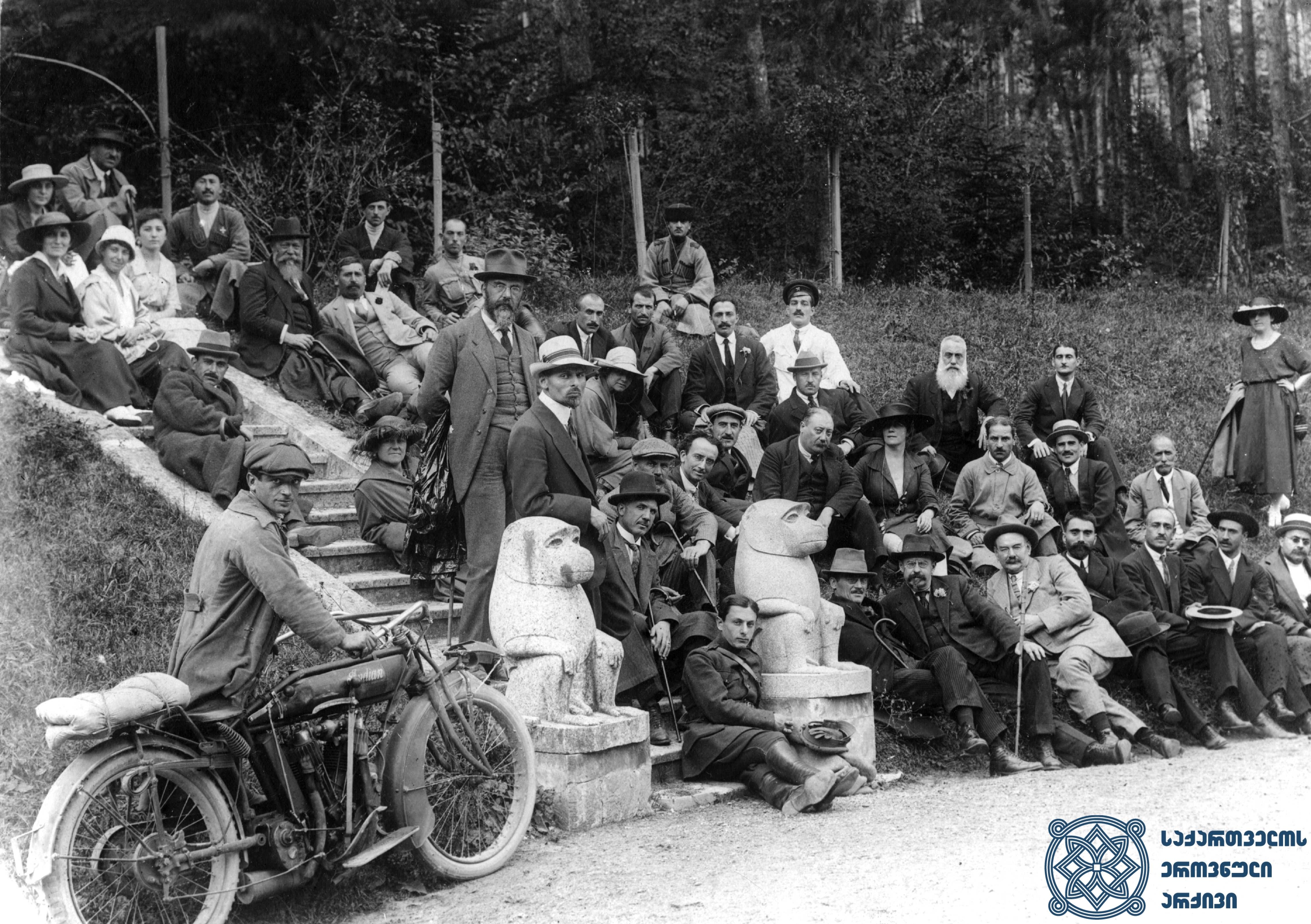 მეორე სოციალისტური ინტერნაციონალის წევრების ვიზიტი კახეთში. 1920 წლის სექტემბერი. <br> Visit of the members of the Second Socialist International to Kakheti. September 1920.