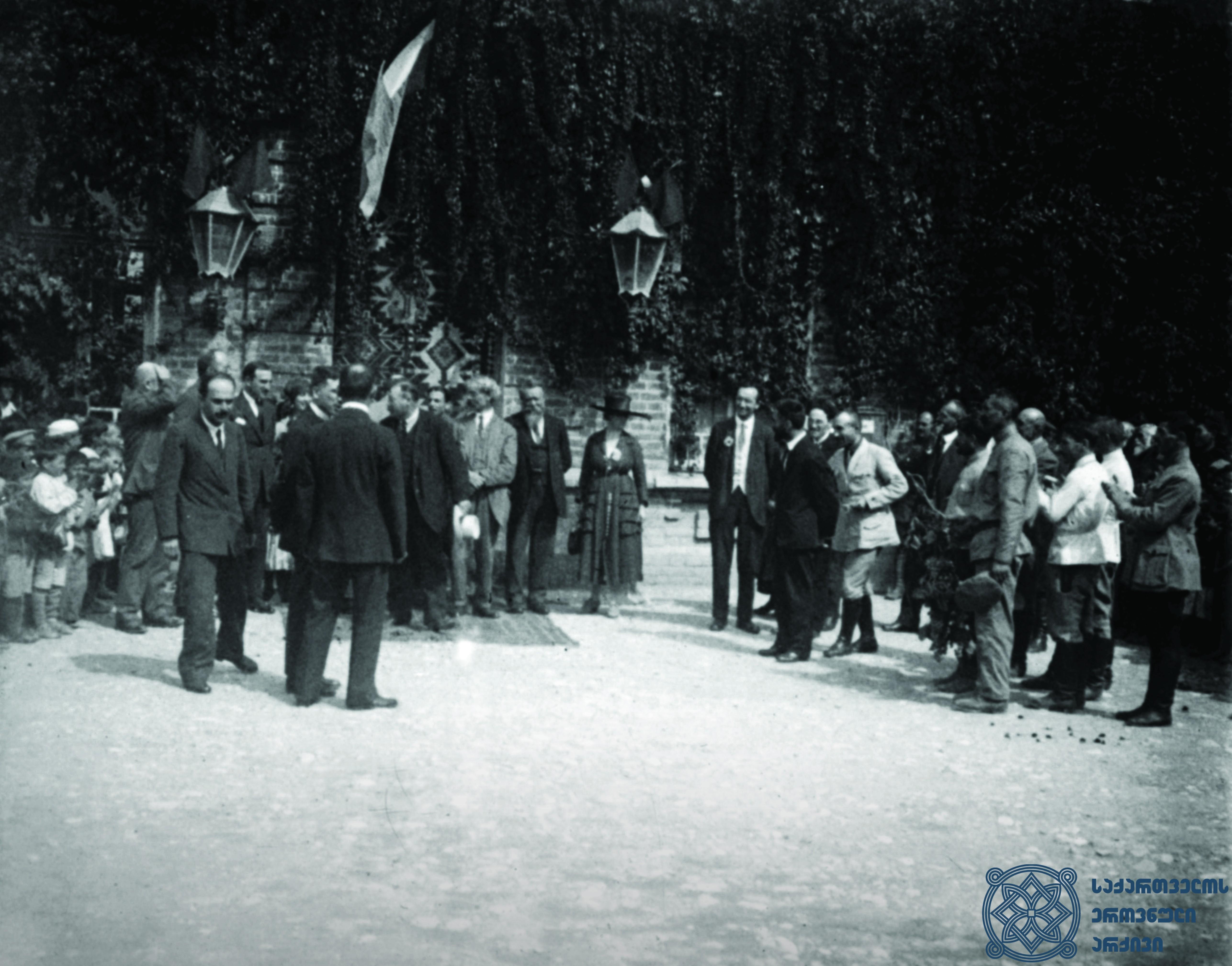 მეორე სოციალისტური ინტერნაციონალის დელეგაციის მოგზაურობა კახეთში. 1920 წლის სექტემბერი. <br> The trip of the delegation of the Second Socialist International to Kakheti. September 1920.