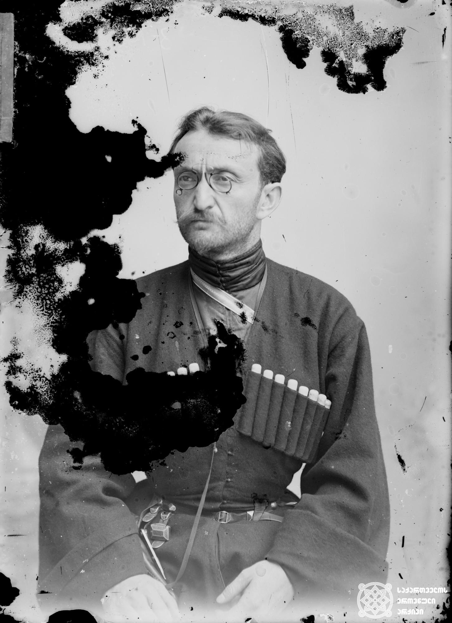 პოეტი გრიგოლ აბაშიძე (1866-1903). <br> მინის ნეგატივი 12X16. <br> Poet Grigol Abashidze (1866-1903). <br> Glass negative 12X16.