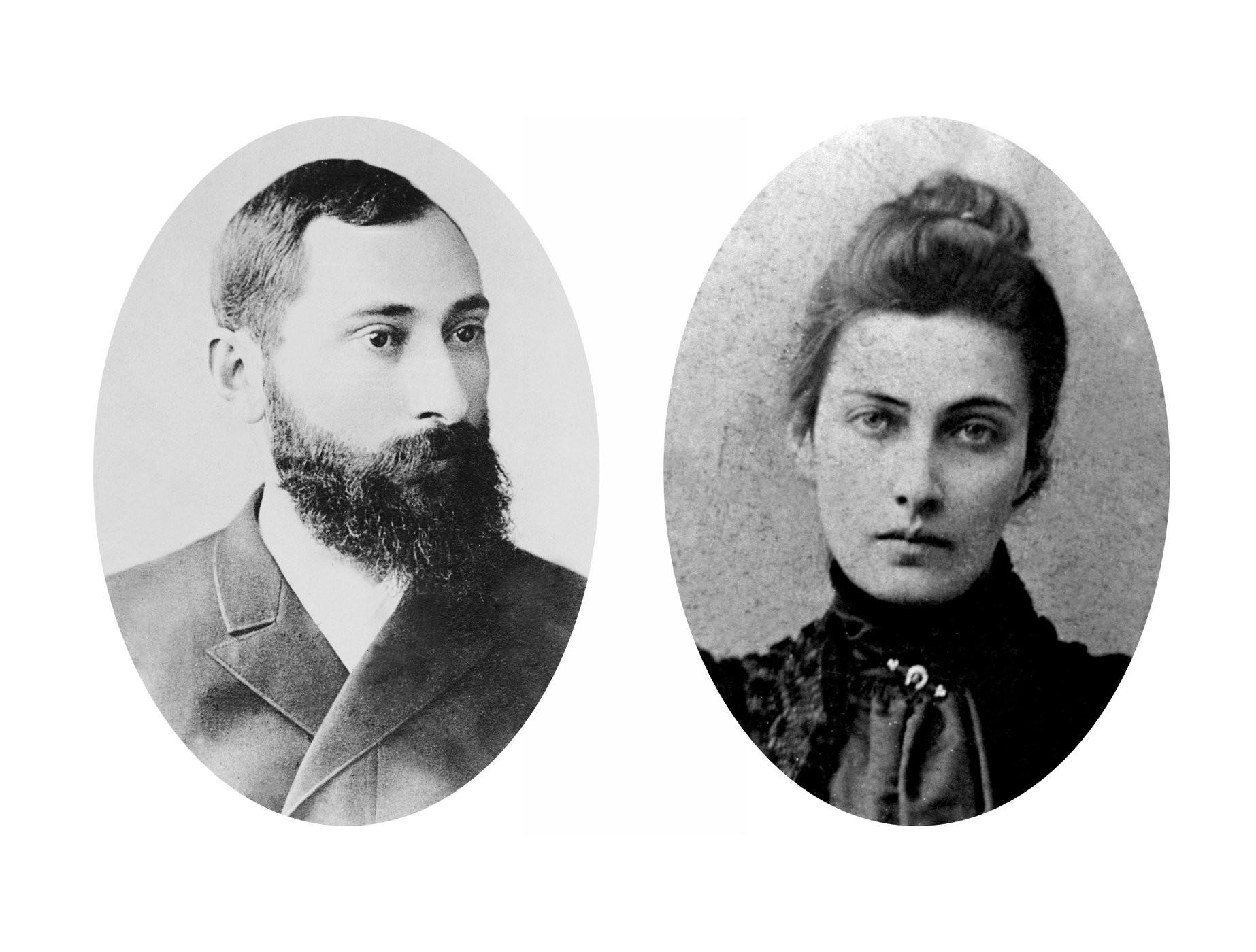 ექვთიმე თაყაიშვილი და მისი მეუღლე ნინო პოლტორაცკაია <br>  Ekvtime Takaishvili and his wife Nino Poltoratskaya