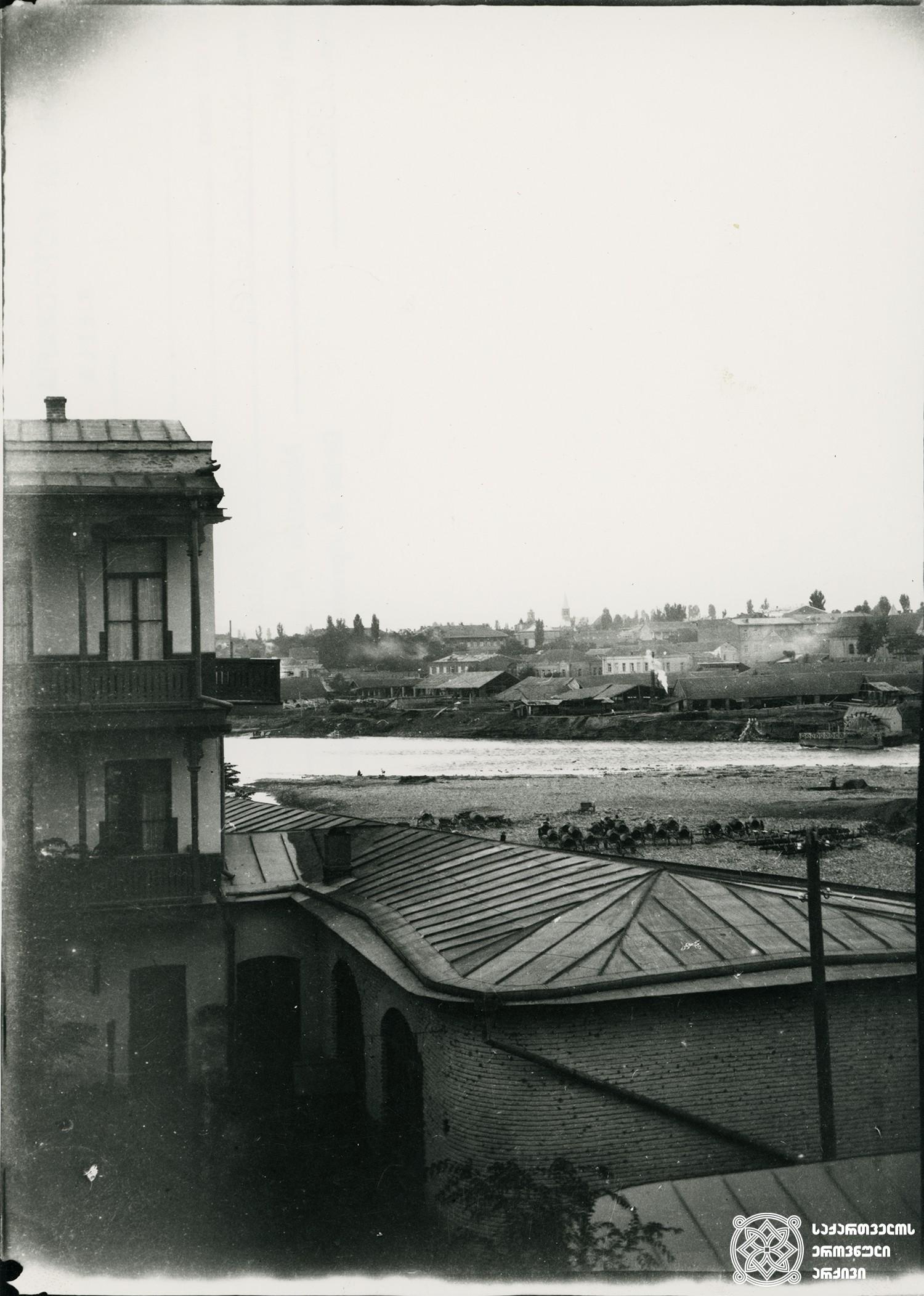 თბილისი. ხედი მტკვარზე. <br>  Tbilisi. View of Mtkvari. 1896