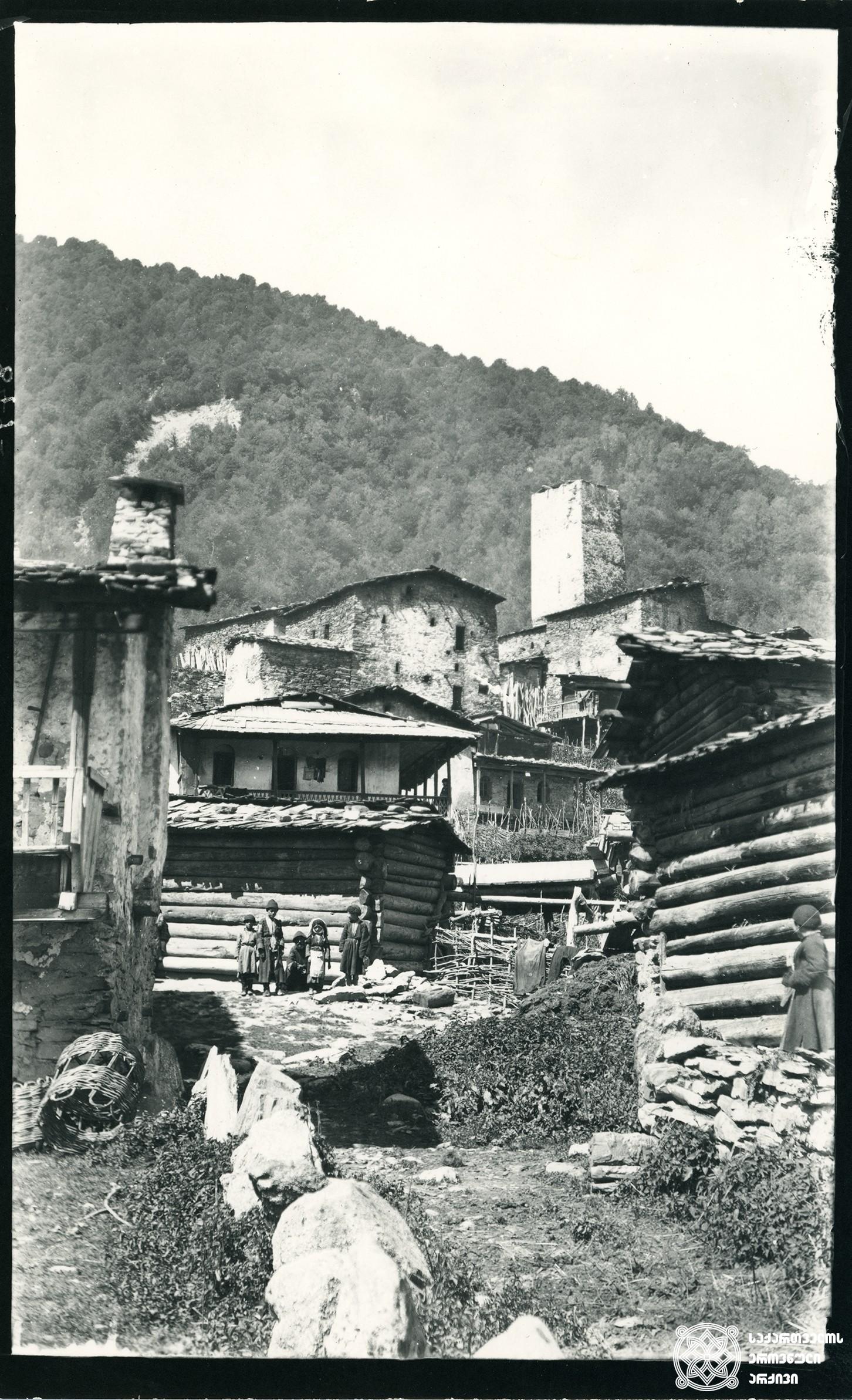 რაჭა, ღები. <br> Racha, village Ghebi. <br> 1890