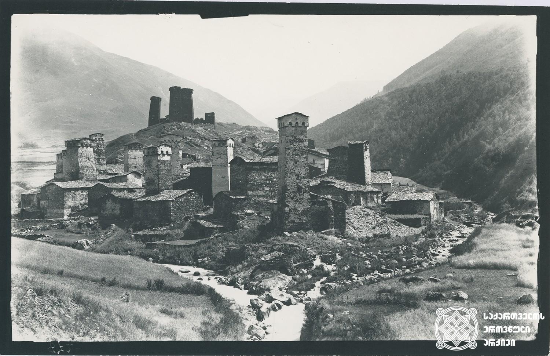 სოფელი უშგული. <br> Village Ushguli.<br> 1890.