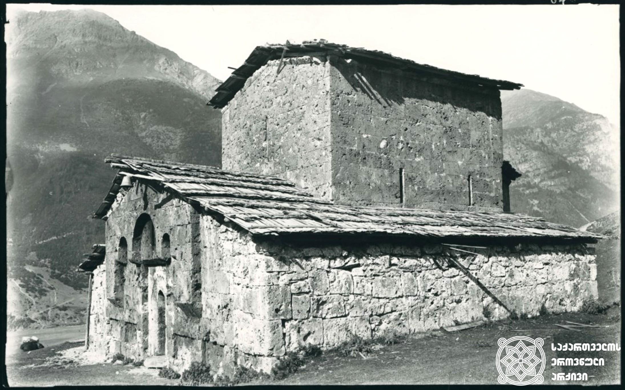 მაცხოვრის ტაძარი, მუჟალი.  <br> 1890 წელი. <br> Our Savior's church, Muzhali. <br> 1890